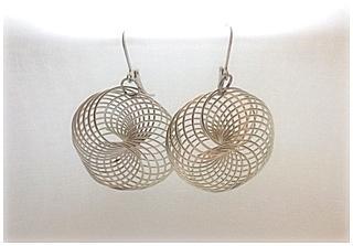Náušnice spirály - kruhy