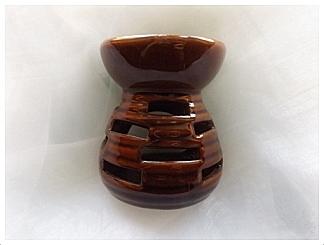 Aromalampa keramická hnědá