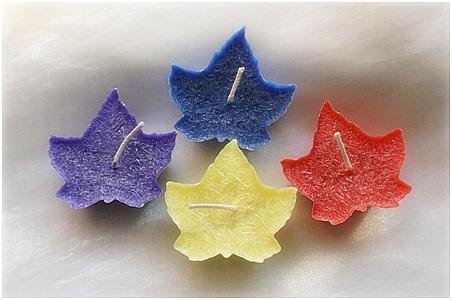 Plovoucí svíčka list